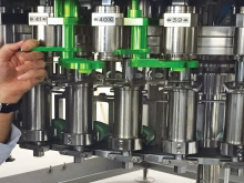 Automatic dummy bottles system