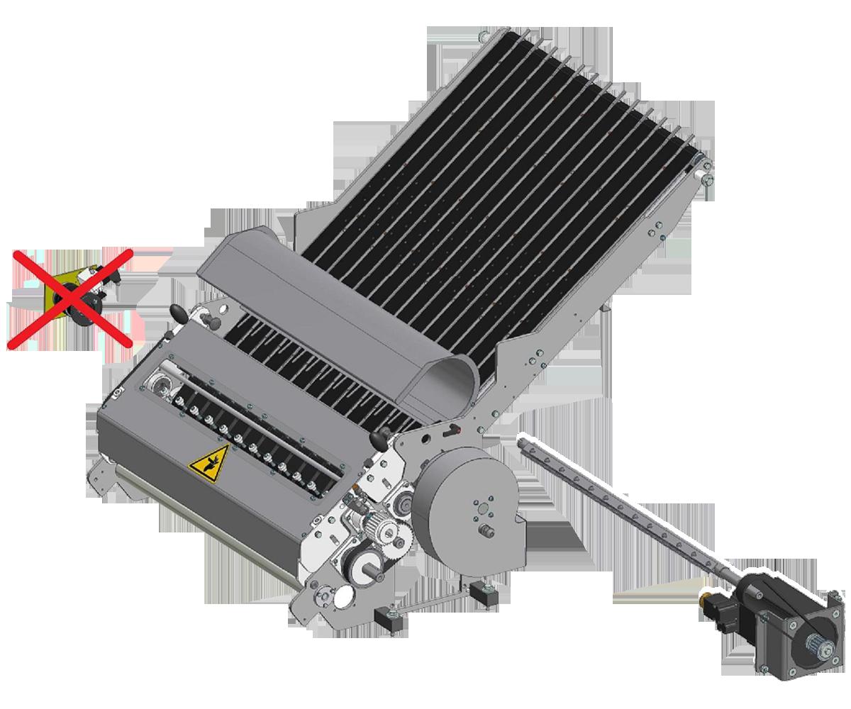 ZF010007/8 - Grupo zona de corte con cuchilla motorizada para el modelo SK de una y doble pista para enfardadora