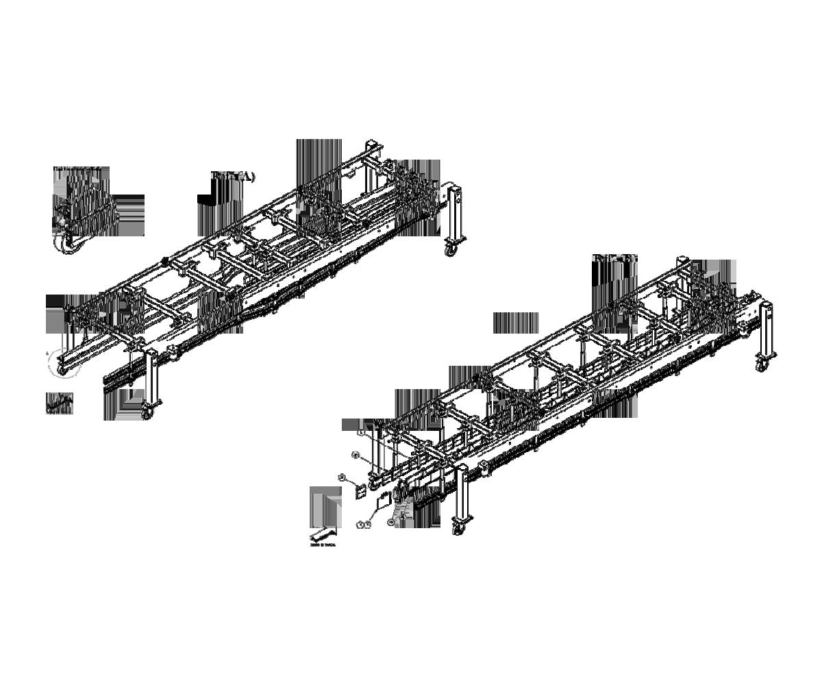 ZF010015 - Grupo de cambio de las guías de producto en la zona de entrada de la máquina