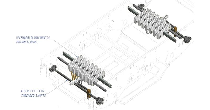MT500051 – Overhaul kit belts regulation levers (separator area)