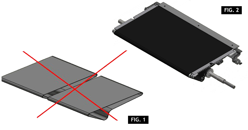 ZF010119 - Remplazo tapetes del envolvedor de doble a sencilla