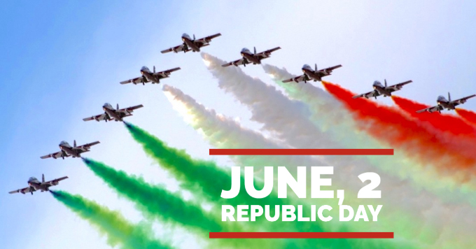 Italy Republic Day. SMI is closed for holidays